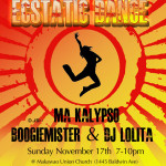 Ecstatic Dance Nov 2013 poster